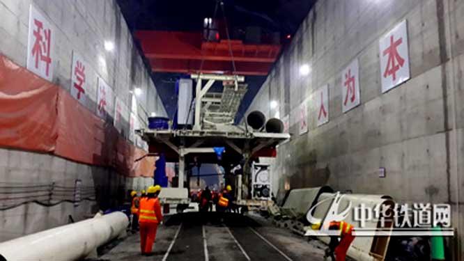 隧道挖装机手绘图片