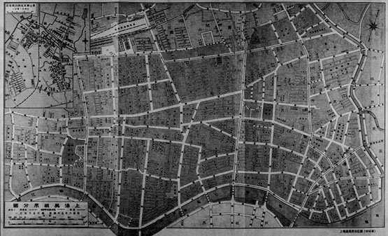 1918年上海美租界分区图